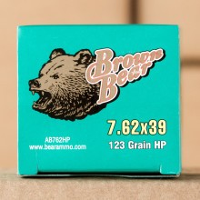 7.62X39 BROWN BEAR 123 GRAIN HOLLOW POINT (20 ROUNDS)