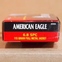 6.8MM SPC FEDERAL AMERICAN EAGLE 115 GRAIN GRAIN FMJ (20 ROUNDS)