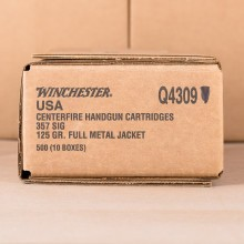 357 SIG WINCHESTER 125 GRAIN FMJ (500 ROUNDS)