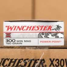300 WIN MAG WINCHESTER 180 GRAIN SUPER-X POWER POINT (20 ROUNDS)