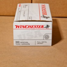 38 SPECIAL WINCHESTER 130 GRAIN FMJ (50 ROUNDS)