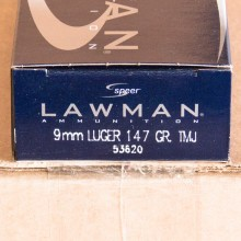 9MM SPEER LAWMAN 147 GRAIN FULL METAL JACKET (1000 ROUNDS)