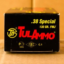 38 SPECIAL TULA 130 GRAIN FMJ (50 ROUNDS)