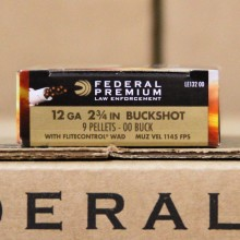 """12 GAUGE FEDERAL TACTICAL LE 2-3/4"""" 00 BUCK (5 ROUNDS)"""