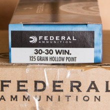 30-30 WINCHESTER FEDERAL POWER-SHOK 125 GRAIN HP (20 ROUNDS)