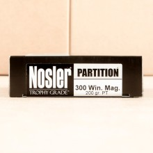 300 WIN MAG NOSLER TROPHY GRADE 200 GRAIN PARTITION SOFT POINT (20 ROUNDS)