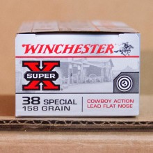 38 SPECIAL WINCHESTER SUPER-X COWBOY ACTION 158 GRAIN LFN (50 ROUNDS)