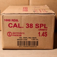 .38 SPECIAL ARMSCOR 158 GRAIN FMJ (1000 ROUNDS)
