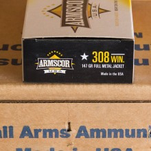 .308 WINCHESTER ARMSCOR 147 GRAIN FMJ (20 ROUNDS)