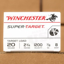 "20 GAUGE WINCHESTER SUPER TARGET 2-3/4""  (25 ROUNDS)"
