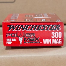 300 WIN MAG WINCHESTER 150 GRAIN POWER MAX BONDED PHP
