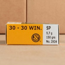 30-30 SELLIER & BELLOT 150 GRAIN SP (20 ROUNDS)