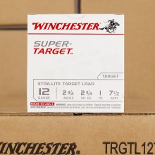 "12 GAUGE WINCHESTER SUPER TARGET 2-3/4"" 1 OZ. #7-1/2 SHOT (250 ROUNDS)"