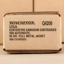 380 ACP WINCHESTER 95 GRAIN FMJ (50 ROUNDS)