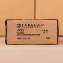 9MM LUGER FEDERAL AMERICAN EAGLE (TRAYLESS) 115 GRAIN FMJ (500 ROUNDS)