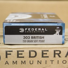 303 BRITISH FEDERAL POWER-SHOK 150 GRAIN SP (20 ROUNDS)