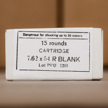 7.62x54R PRVI PARTIZAN BLANK (EXTENDED CASE) (15 ROUNDS)
