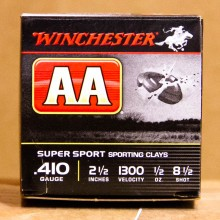 "410 BORE WINCHESTER AA SPORTING CLAYS 2-1/2"" 1/2 OZ #8.5 SHOT (25 ROUNDS)"