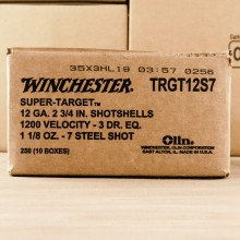 "12 GAUGE WINCHESTER SUPER TARGET 2-3/4"" #7 SHOT (250 ROUNDS)"