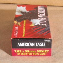 7.62X39 FEDERAL AMERICAN EAGLE 124 GRAIN FMJ (20 ROUNDS)