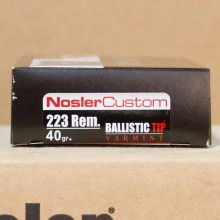 223 REMINGTON NOSLER TROPHY GRADE VARMINT 40 GRAIN GRAIN BT (20 ROUNDS)