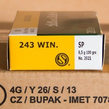 243 WIN SELLIER & BELLOT 100 GRAIN SOFT POINT (20 ROUNDS)