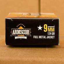 9MM LUGER ARMSCOR 124 GRAIN FMJ (1000 ROUNDS)