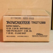 "12 GAUGE WINCHESTER SUPER TARGET 2-3/4"" 1-1/8 OZ. #8 SHOT (250 ROUNDS)"