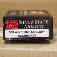 .308 WIN SILVER STATE ARMORY 150 GRAIN NOSLER ACCUBOND (20 ROUNDS)