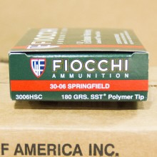 .30-06 SPRINGFIELD FIOCCHI EXTREMA SST 180 GRAIN JHP (20 ROUNDS)
