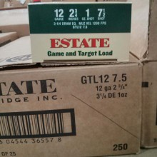 "12 GAUGE ESTATE GAME AND TARGET 2-3/4"" #7.5 SHOT (25 ROUNDS)"