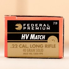 22 LR FEDERAL GOLD MEDAL HIGH VELOCITY MATCH 40 GRAIN SOLID POINT (500 ROUNDS)