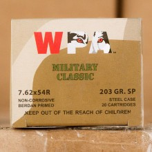 7.62x54R WPA MILITARY CLASSIC 203 GRAIN SP (20 ROUNDS)