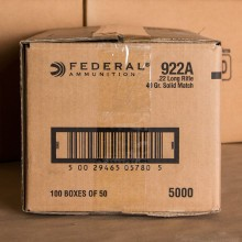 22 LR FEDERAL GOLD MEDAL MATCH 40 GRAIN LRN (50 ROUNDS)