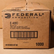 .45 ACP AUTO FEDERAL 185 GRAIN JHP (1000 ROUNDS)