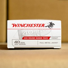 .40 S&W WINCHESTER 165 GRAIN FULL METAL JACKET (200 ROUNDS)