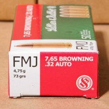 32 ACP SELLIER & BELLOT 73 GRAIN FMJ (50 ROUNDS)
