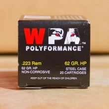 223 REM WOLF POLYFORMANCE 62 GRAIN HOLLOW POINT (20 ROUNDS)