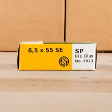 6.5X65 SWEDISH SELLIER & BELLOT 131 GRAIN SOFT POINT (20ROUNDS)
