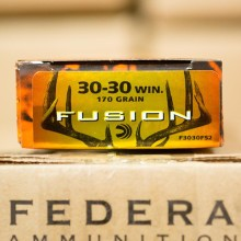 30-30 WIN FEDERAL FUSION 170 GRAIN FUSION (20 ROUNDS)