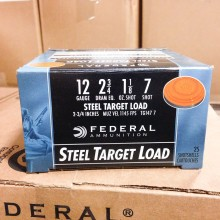 "12 GAUGE FEDERAL TOP GUN STEEL 2-3/4"" #7 (25 SHELLS)"