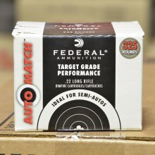22 LR FEDERAL AUTOMATCH TARGET 40 GRAIN LEAD ROUND NOSE #AM22 (325 ROUNDS)