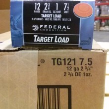 "12 GAUGE FEDERAL TOP GUN 2-3/4"" #7.5 SHOT (250 ROUNDS)"