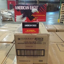 30 CARBINE FEDERAL AMERICAN EAGLE 110 GRAIN FMJ (500 ROUNDS)