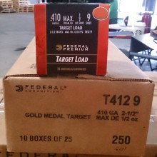 "410 BORE FEDERAL GOLD MEDAL 2-1/2"" #9 SHOT TARGET LOAD (25 ROUNDS)"