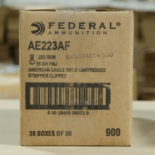 .223 FEDERAL AMERICAN EAGLE 55 GRAIN FMJ #AE223AF (900 ROUNDS)