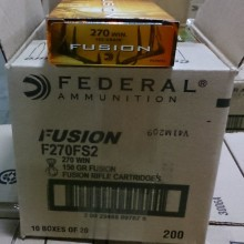 270 WINCHESTER FEDERAL FUSION 150 GRAIN SP (20 ROUNDS)