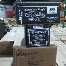 5.56x45MM FEDERAL AMERICAN EAGLE 55 GRAIN FMJ (600 ROUNDS)