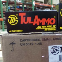 223 REM TULA 55 GRAIN HP (40 ROUNDS)