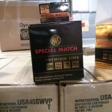 22 LR RWS SPECIAL MATCH 40 GRAIN RN (50 ROUNDS)